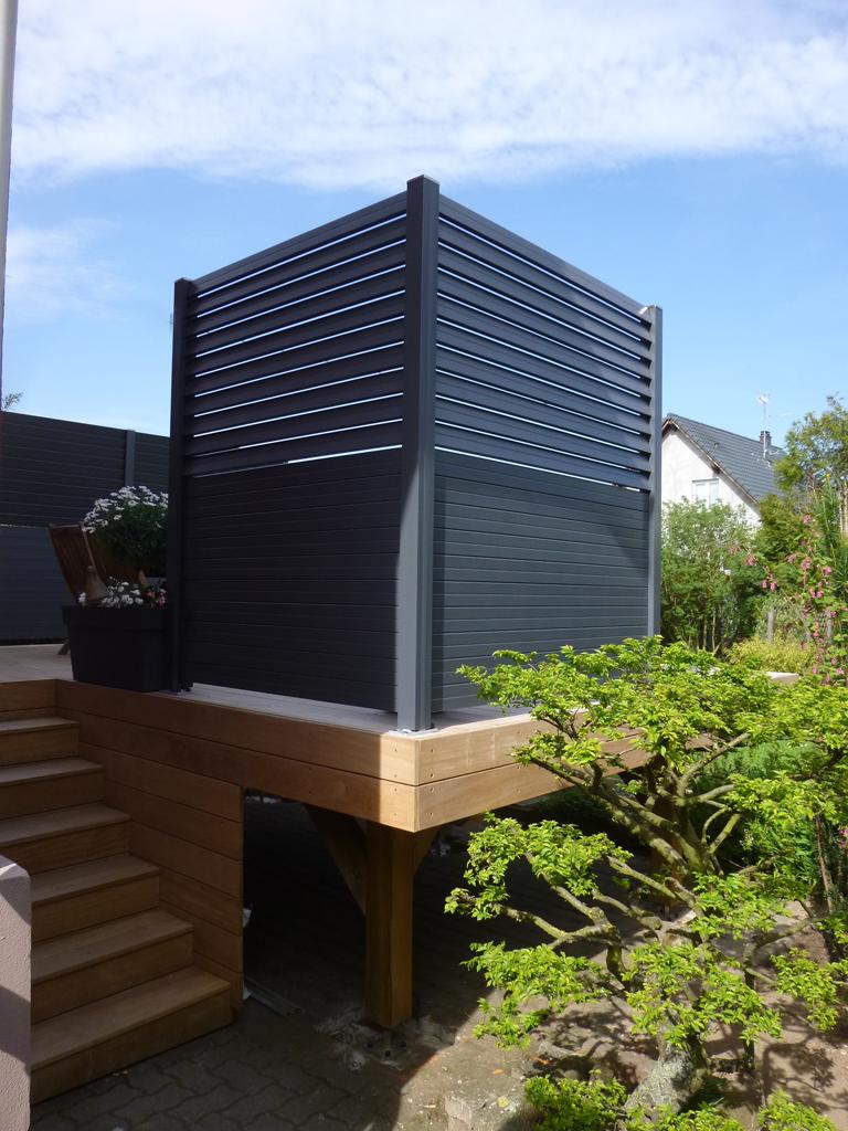 fabricant et installation de panneaux brise vue en bois. Black Bedroom Furniture Sets. Home Design Ideas