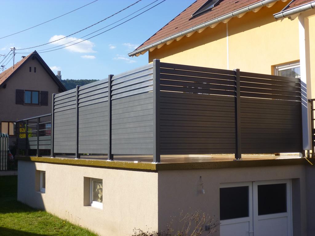 Fabricant et installation de panneaux brise vue en bois atypique aluminium - Brise vue castorama bois ...