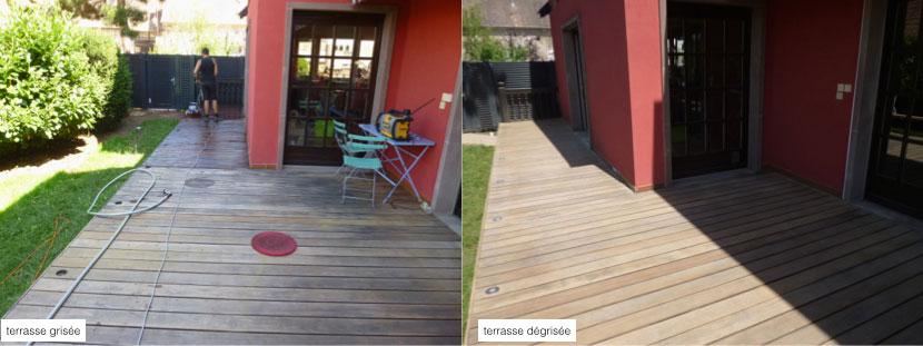 votre terrasse en bois, vente de produits, dégrisonnement de terrasse [R