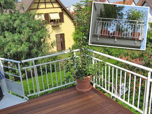 Installation de garde corps en aluminium pour terrasses et balcons en