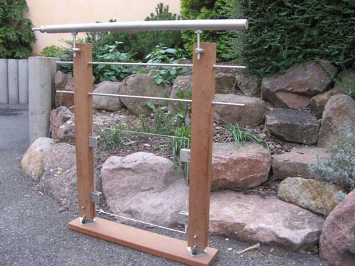 Pose de garde corps en bois et inox en alsace strasbourg - Fabriquer garde corps bois ...