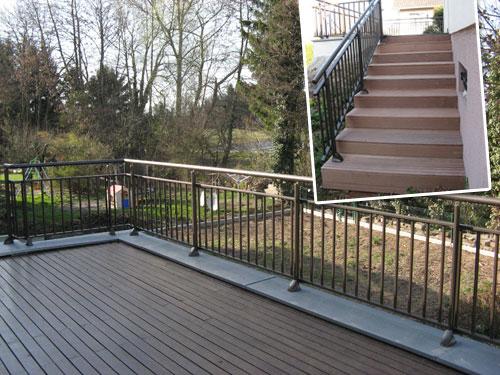 Installation de garde corps en aluminium pour terrasses et balcons en alsace - Garde corps aluminium exterieur ...
