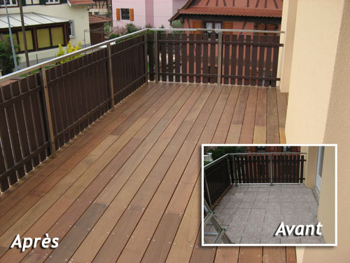 Conception r alisation et installation de terrasses en for Terrasses en vue immobilier