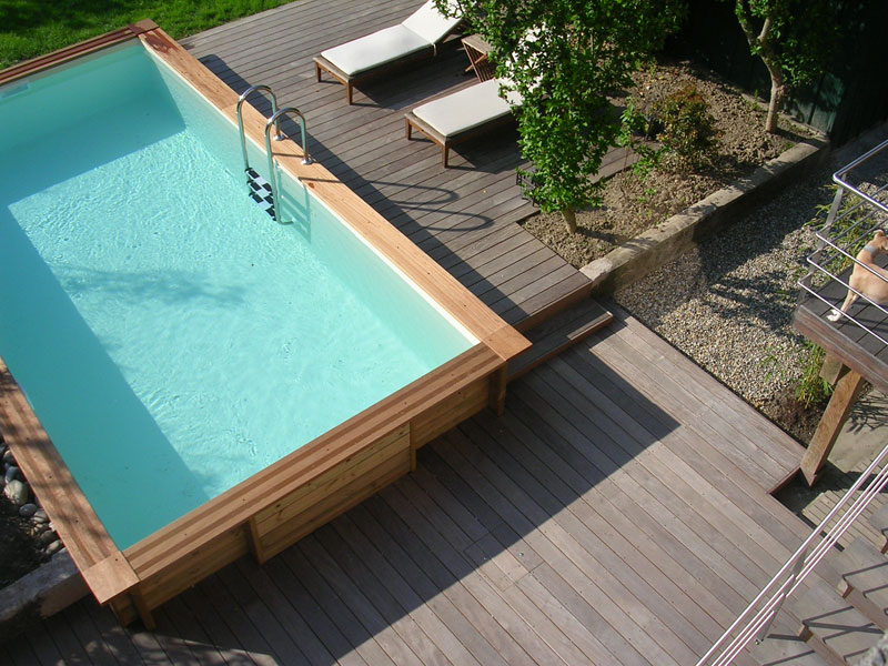 plage bois piscine affordable le bois permet vraiment de faire des piscines sympas et en plus a. Black Bedroom Furniture Sets. Home Design Ideas