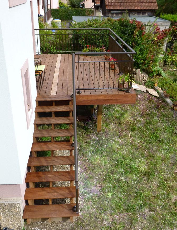 et pose de terrasses sur pilotis en bois en Alsace à Strasbourg