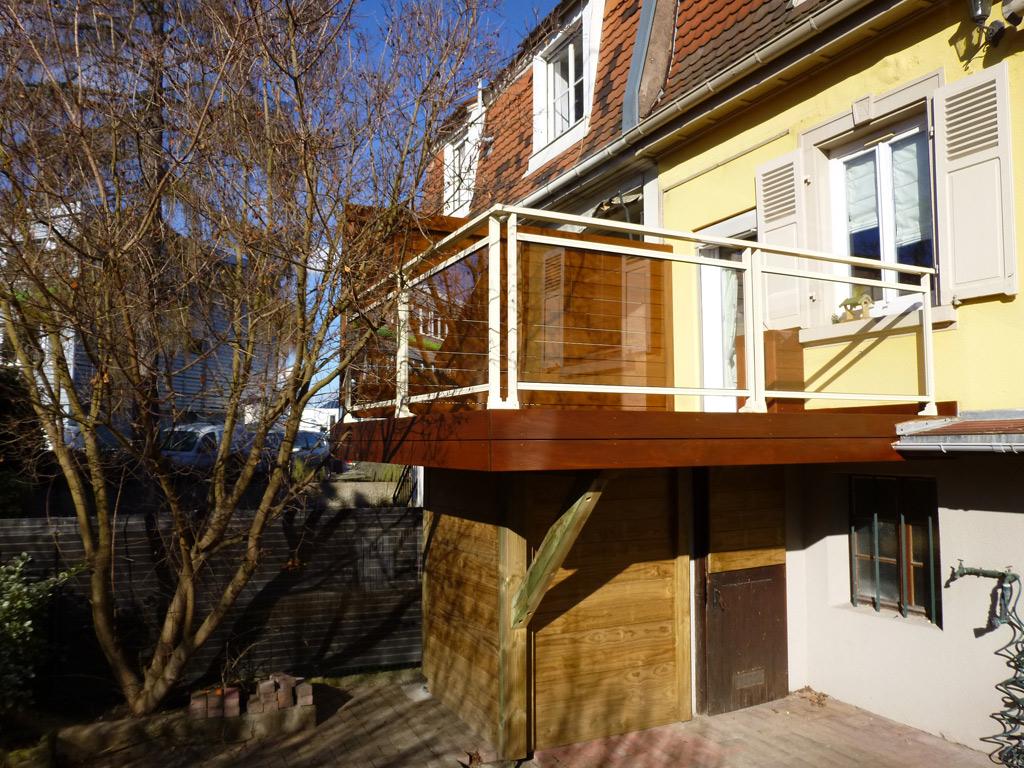 Balcon En Bois Sur Pilotis : et pose de terrasses sur pilotis en bois en Alsace ? Strasbourg