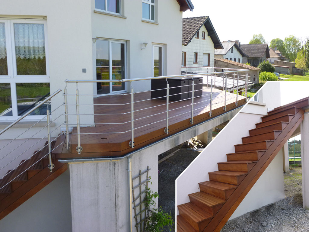 Conception realisation et installation de terrasses en for Realisation dalle beton terrasse