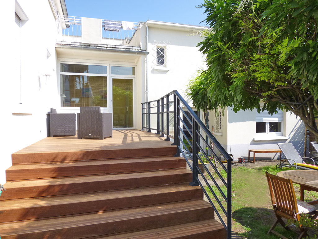 Escalier Terrasse Bois Kit Diverses Id Es De Conception De Patio En Bois Pour