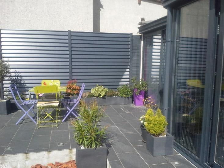 panneau brise vue aluminium top clture pvc brisevue with panneau brise vue aluminium. Black Bedroom Furniture Sets. Home Design Ideas