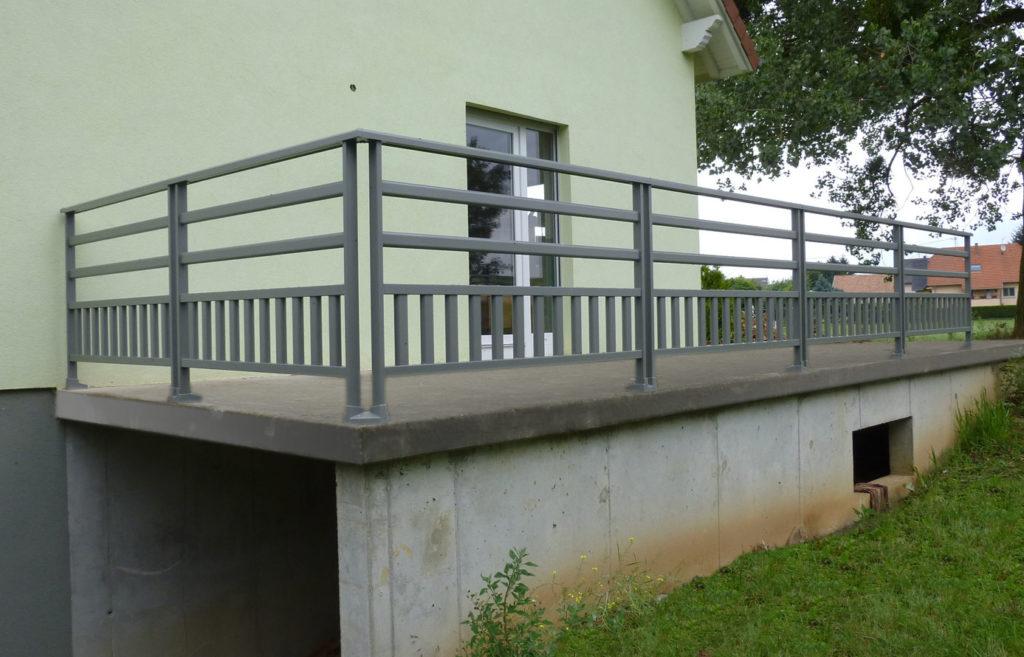 garde corps terrasse selestat garde-corps horizontal et vertical