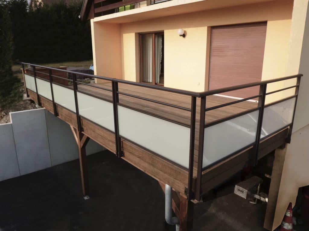 garde-corps en inox en alsace, barrière en alu pour terrasse, garde