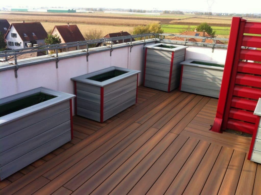 Réalisation et pose de terrasses en Bois composite garanti qualité ...